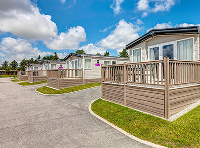 AB Sundecks Picket Panels on raised Decking on an array of Holiday Homes